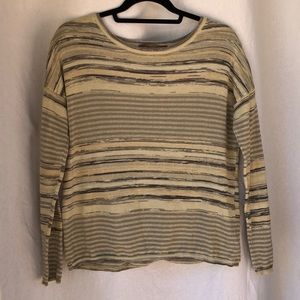Prana crewneck knit sweater with open back